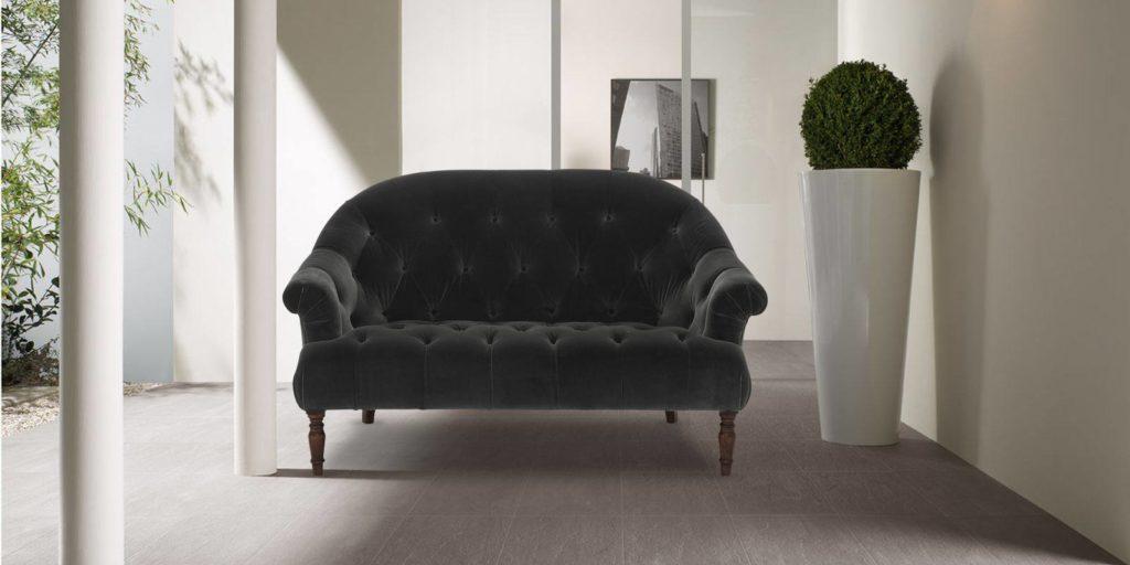 Gorgeous Two Seater Sofa In Dark Grey Colour