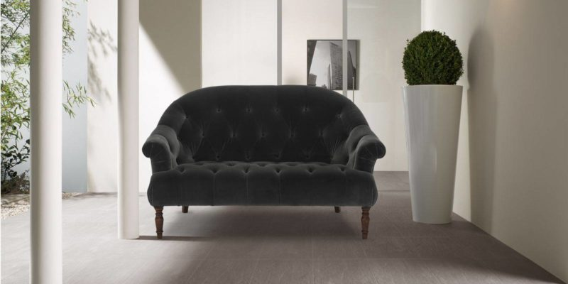 Gorgeous Two Seater Sofa In Dark Grey Colour