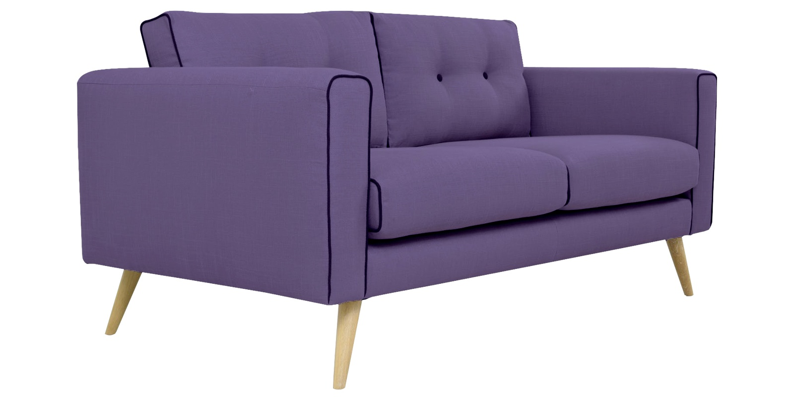 Two Seater Sofa In Light Purple Colour