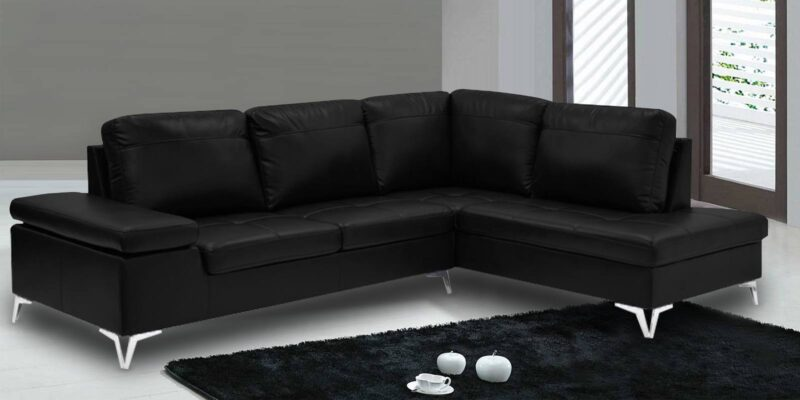 The Beatrix L Shape leatherette Sofa