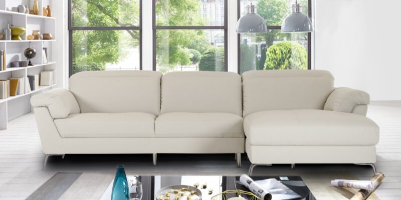 Honora Leatherette Sectional Sofa