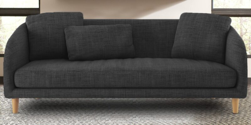 Placeholder Wisely Extra Comforting Three Seater Sofa In Dark Grey Colour