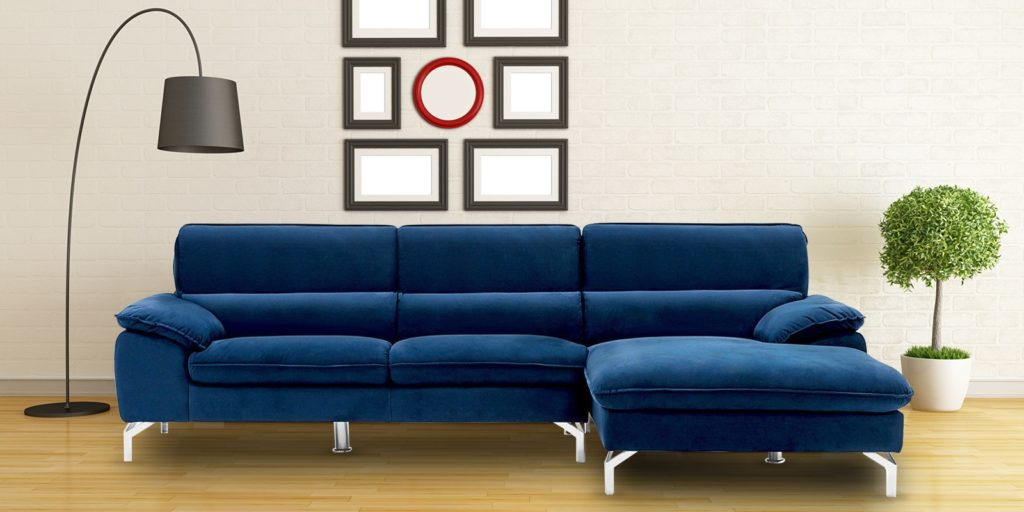 Libby two piece sofa in Blue colour