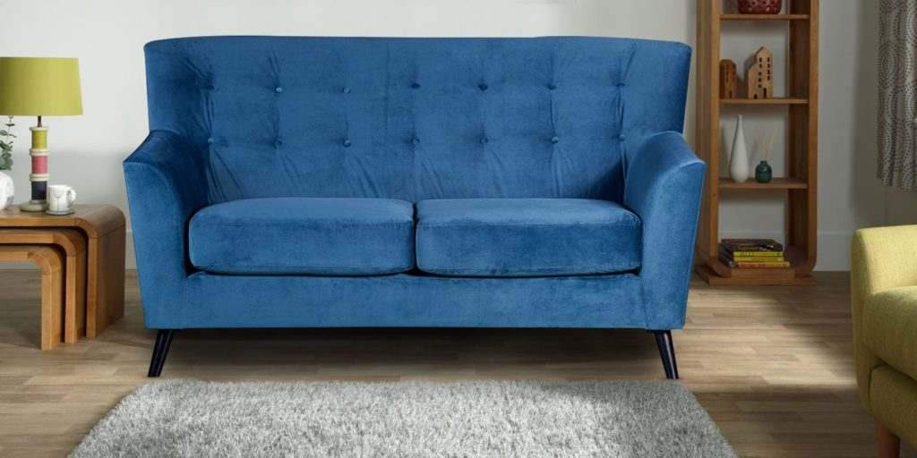 Arian Two Seater Sofa In Blue Colour