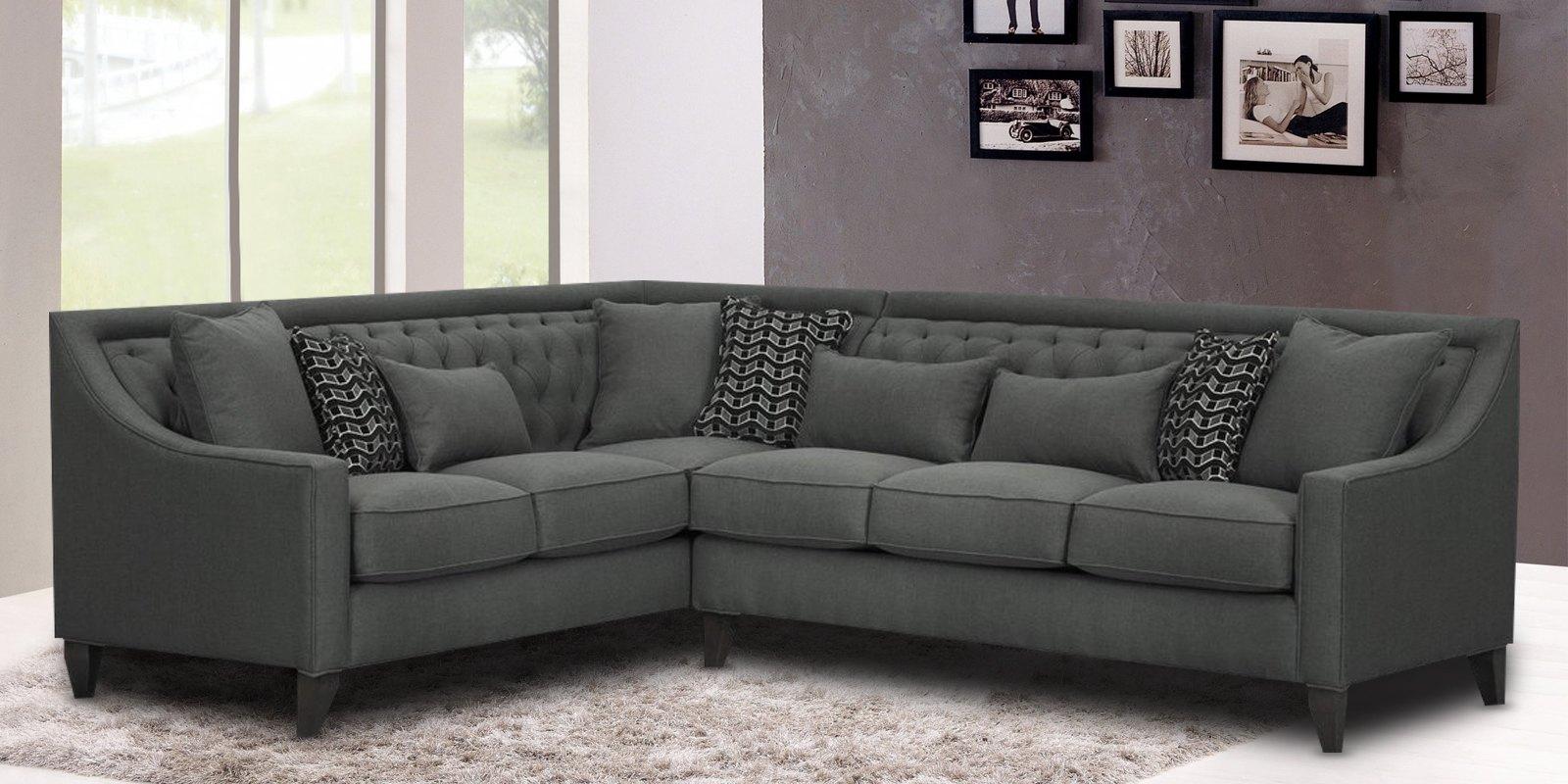 Nirvana Grey Colour L Shape Sofa Dreamzz Furniture