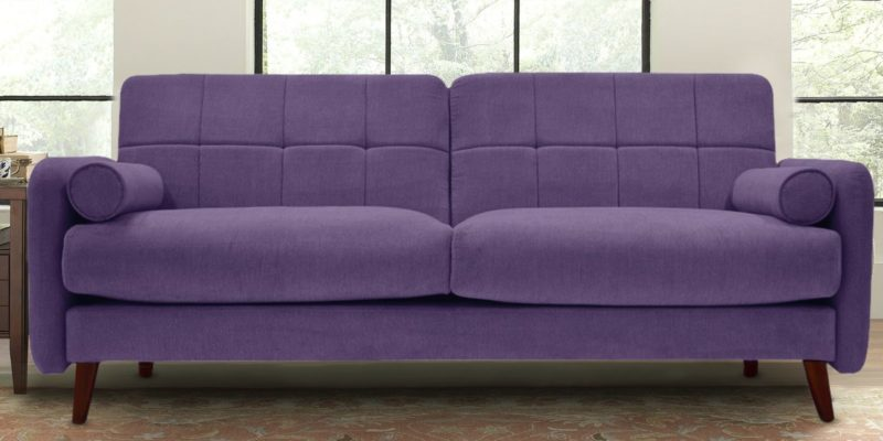 Grenola Two Seater Sofa In Purple Colour