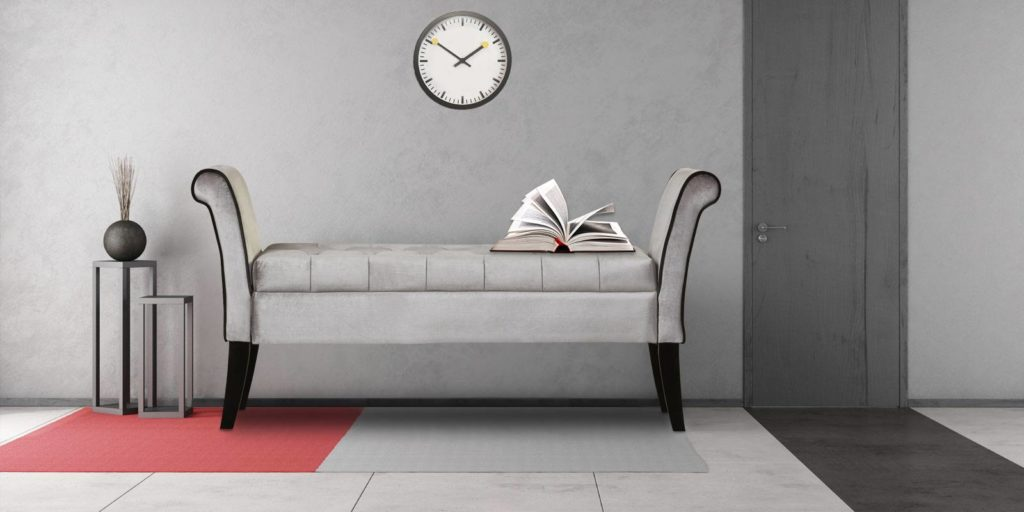 Hall Settee In Grey Colour