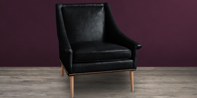 Cornis Classic Chair In Black Colour Leatherette