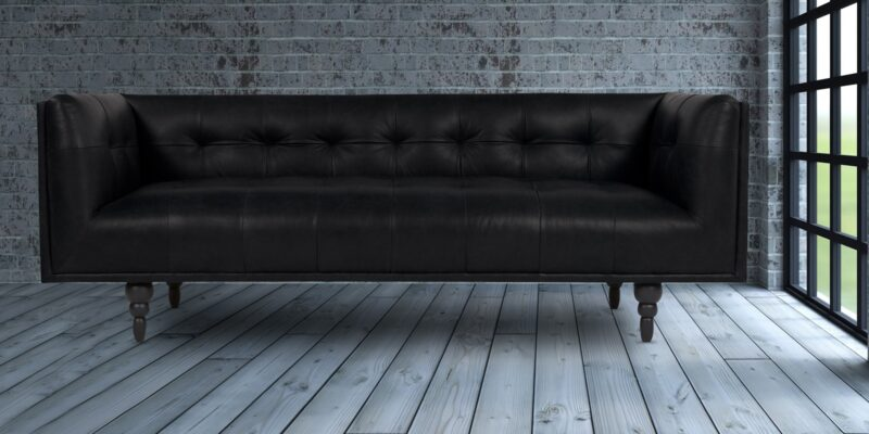 Tempting Three Seater Sofa In Black Colour