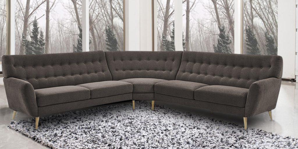 Blake Stylish Tufted Sectional Sofa
