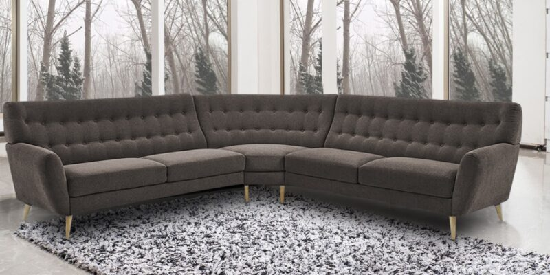Blake Stylish Tufted Sectional Sofa