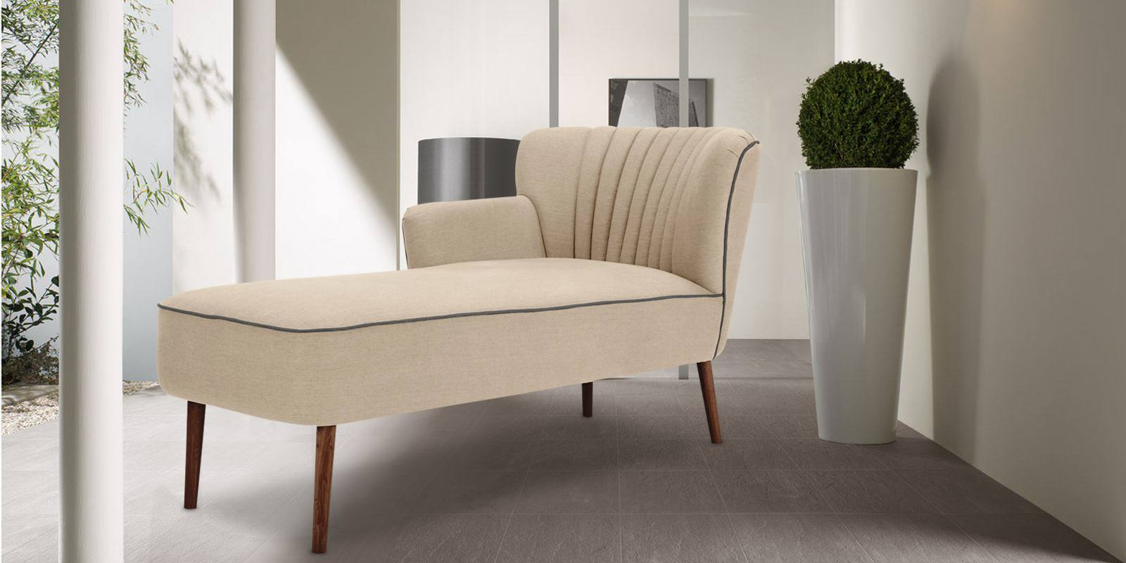 Glorious Comfort Chaise In Beige Colour