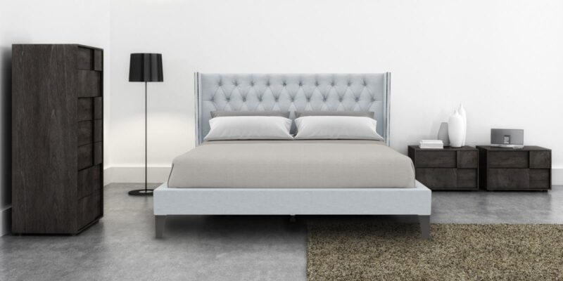 Noa King size bed With Tufted headboard