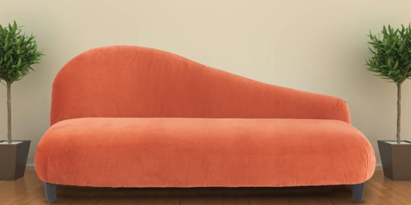 Boltic Two Seater Sofa In Orange Velvet