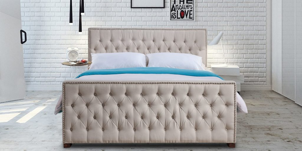 Archer tufted head and foot board bed