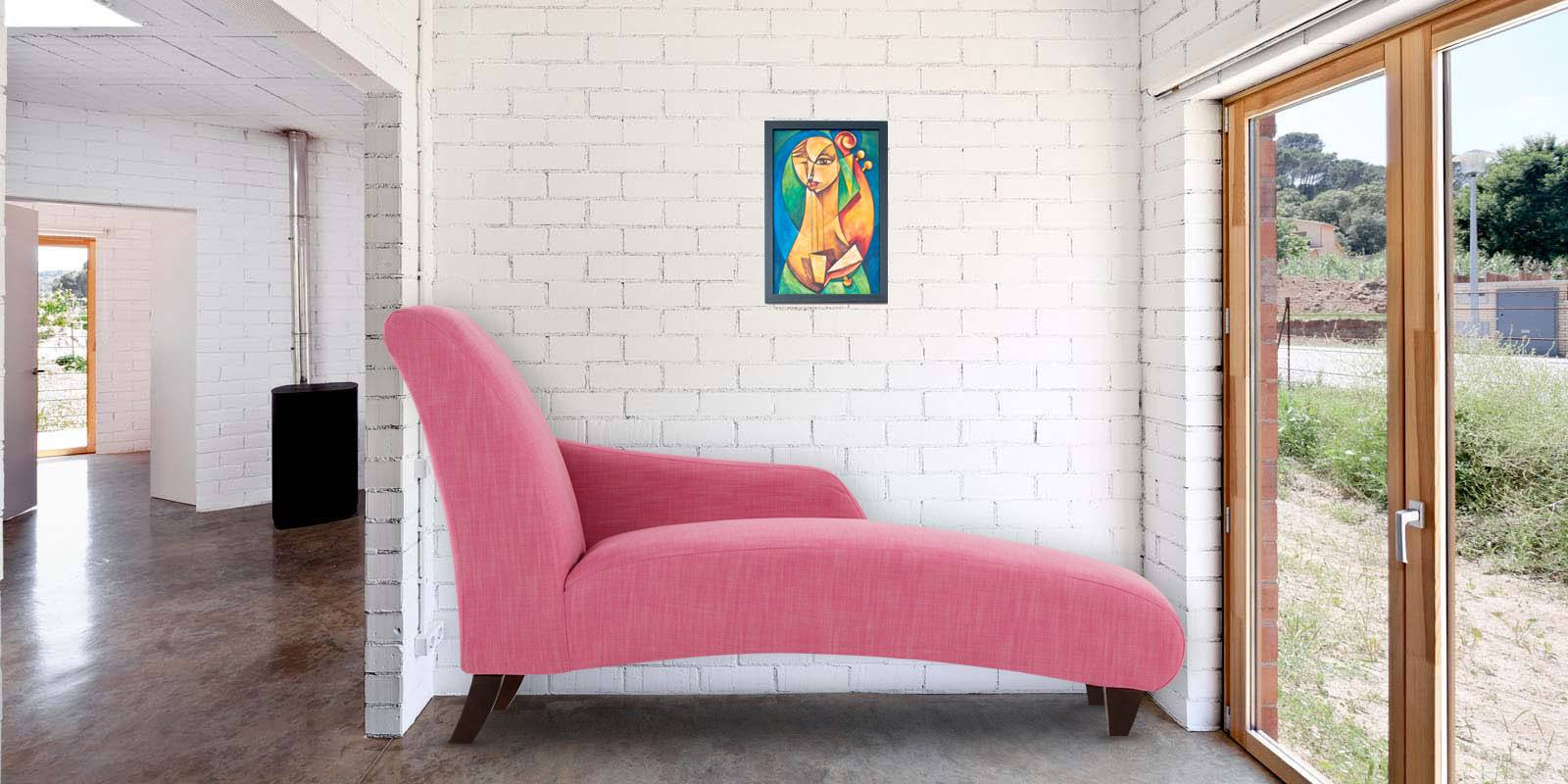 Majestic Accent Chaise In Pink Colour