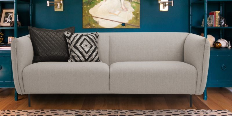Cretel Three Seater Sofa In Light Grey Colour