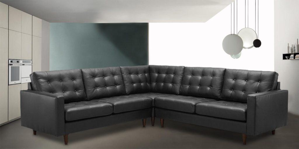 Norsborg Black Letterette L Shape sofa