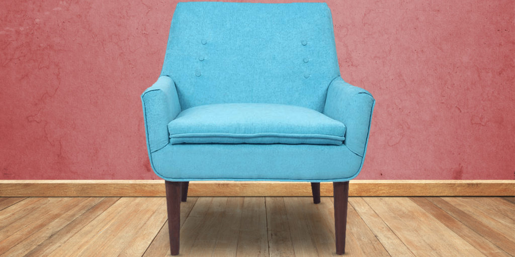Hall Classic Accent Chair In Ocean Blue Colour