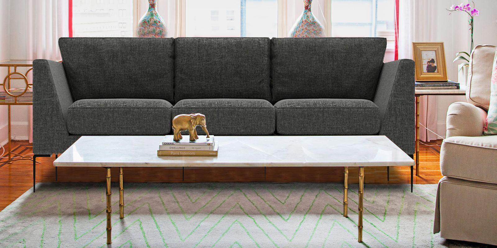 Three Seater Sofa In Dark Grey Colour   Dreamzz Furniture   Online ...