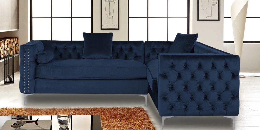 Tidafors Classic Velvet L sahpe sofa