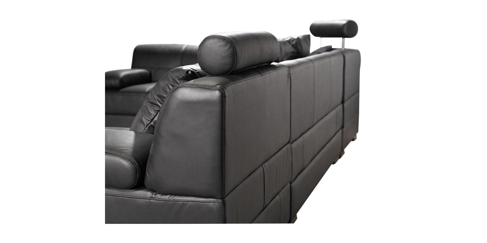Astounding Fave Corner Sofa In Black Colour Evergreenethics Interior Chair Design Evergreenethicsorg