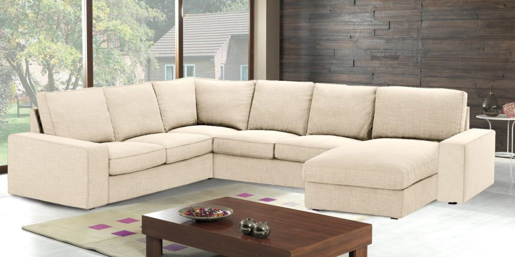 Kappa Sleek Sectional Sofa with Side arm rest