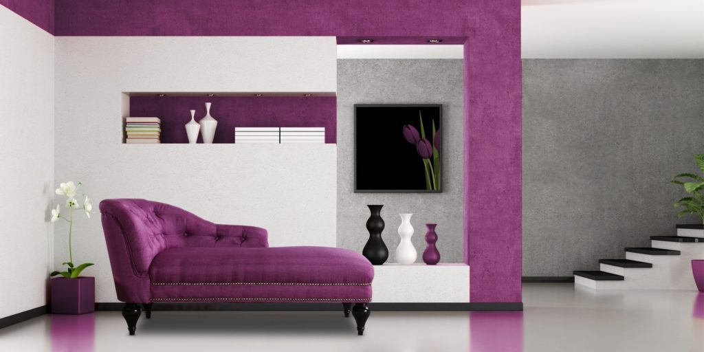 Exclusive Princess Chaise In Dark Purple Colour