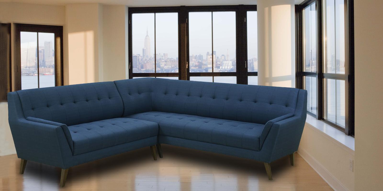 Annabel Sectional Sofa in Blue Colour | Dreamzz Furniture | Online ...