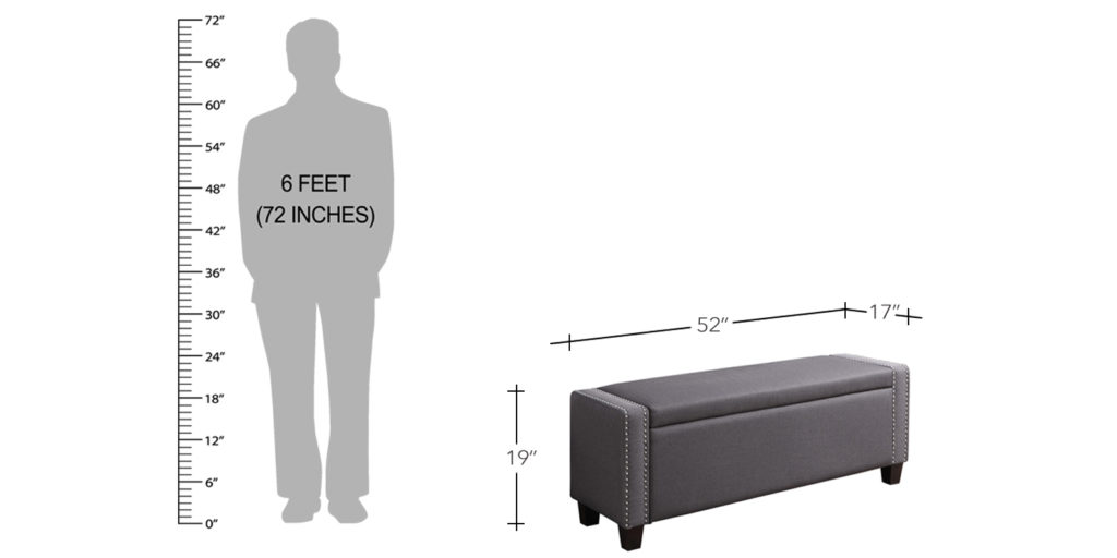 Absolute Settee With Storage In Grey Colour
